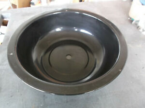 """Brinkmann Round Replacement Charcoal Smoker Pan 13 3/4"""" with vent hole"""