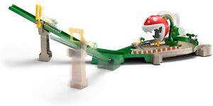 Hot Wheels GFY47 Mario Kart Piranha Plant Slide Playset with 1:64 Die-Cast Yoshi