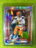 BAKER MAYFIELD PRIZM CARD BROWNS JERSEY #6 SP/99 REFRACTOR 2019 National VIP SSP