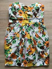 River Island Bandeau Kleid EUR 36 UK 10 mit Blumen bunt NEUwertig
