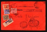 Italy 1940 Registered Bologna Military Cover / Several Dues - Z17896