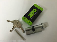 Euro Cylinder Thumb Turn 70mm 35mm / 35mm Fire Door Lock Anti Drill C/W 3 Keys