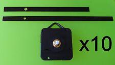 x10 mécanisme mecanisme mouvement horloge pendule aiguilles 13/18cm DIY