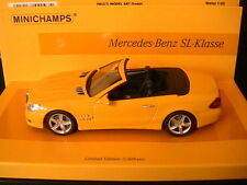 MERCEDES SL KLASSE R230 2008 SPIDER YELLOW MINICHAMP 436037530 1/43 LINEA GIALLO