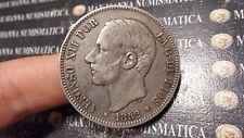 SPAGNA ESPAÑA SPAIN 5  PESETAS  1882  ARGENTO SILVER