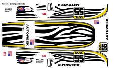 #55 Scott Pruitt Autoweek Saleen 1/32nd Scale Slot Car Decals