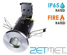 1 x IP65 Bathroom Fire Rated GU10 Mains LED Shower Ceiling Downlights Spotlights
