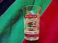 Schnapsglas Wilthner 2 cl  Gebirgskräuter Likör Glas Edition Alant