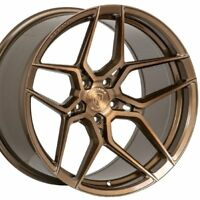 "19"" STAGGERED ROHANA RFX11 19x8.5 19x9.5 BRONZE CONCAVE WHEELS RIMS FORGED"