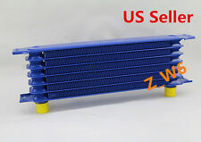 UNIVERSAL 7 ROW AN-10AN POWDER ALUMINUM ENGINE/ TRANSMISSION RACING OIL COOLER