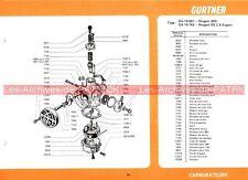 PEUGEOT SPN RS 3 X Export SP3 X Fiche Carburateur GURTNER Type GA 14-661 743 604