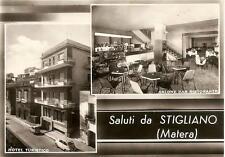 Saluti da STIGLIANO  ( Matera )  -  Hotel Turistico - SALONE BAR RISTORANTE