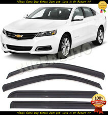 Dark Smoke Acrylic Window Visors Fits 2014-2019 Chevy Impala 2015 2016 2017 2018