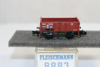 n2581, RAR Fleischmann 8883 Offener Güterwagen K.Bay.Sts.B. BOX Spur N mint