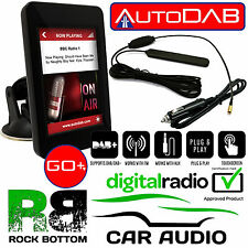"PEUGEOT AUTODAB GO+ DAB Car Stereo Radio Digital Tuner 3.5"" Touch Screen Display"