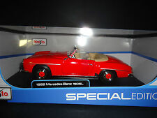 Maisto Mercedes Benz 190SL 1955 Red 1/18