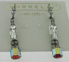 Sorrelli White Bridal Earrings  ECE3ASWBR  antique silver tone