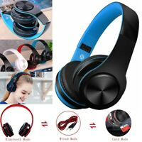 Wireless Bluetooth Headphones Foldable Stereo Super Bass Headset W/Mic 3.5mm K