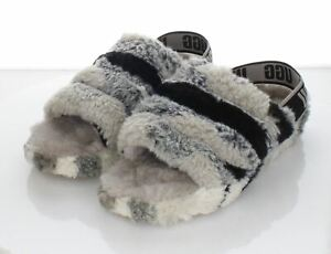T10 $110 Women's Sz 9 M Ugg Fluff Yeah Genuine Shearling Slide Sandal