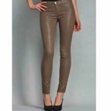 J BRAND 901 Low Skinny JEANS W26 Size UK 6-8 SNAKESKIN Beige/TAUPE LEATHER Look