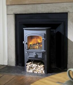 Clearview Pioneer 400p Multifuel Woodburning Logburner Stove 5kw Black
