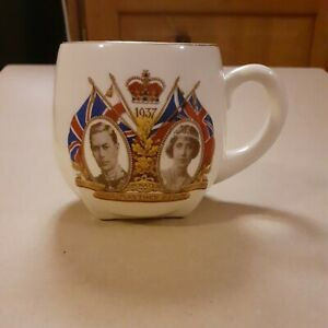 Lawleys,regent St.coronation Mug Of King George Vl &Queen Elizabeth 1937