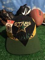 New Rare vtg Dallas Stars adjustable snapback hat cap H43