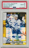 2017 Opee Chee Platinum Nikita Kucherov Seismic Gold /50 PSA 10 Gem Mint *Pop 1