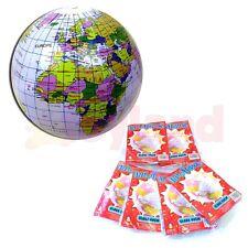 6 X Inflable Globe Bolas Juguete Niños Escuela verano Fete Bolsa Fiesta Rellenos
