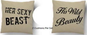 His And Her's Novelty Two Pillow Set With Cushion Insert Included