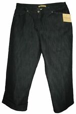 COVINGTON SPORT JEANS WOMENS CAPRIS JEANS STRETCH BLACK SIZE 8
