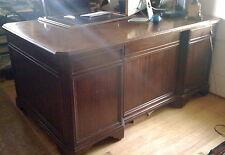 VINTAGE DREXEL HERITAGE mahogany federal antique style executive desk