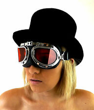 Campbell Cooper New Pilot Steampunk Cyber Fantasy Goggles Red Lens One Size