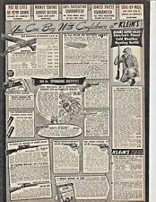 1953 Klein'S Sporting Goods Chicago Il Hunting Gun Firearm Rifle Print Ad