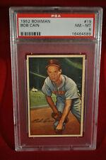 1952 Bowman - #19 - Bob Cain - PSA 8 - NM-MT