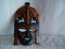 Hand Carved Detailed Sculpture Mask Made In Kenya By Masai