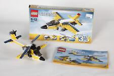 Lego 6912 Creator Avión Amarillo Montado con Instrucciones + Emb.orig 3736