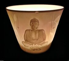 BEAUTIFUL Thai Buddha Porcelain Symbol Candle Tea Light Holder Healing Reiki