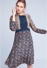 NWT Anthropologie Marana Silk Peasant Midi Dress by Tanvi Kedia sz 12 ($228)