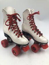 ROLLER DERBY Womens Girls ~ Size 4 ~ White 4-Wheel Quad Roller Skates Vintage