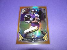 2014 Bowman ADRIAN PETERSON #1 Rainbow Orange Foil/50 VIKINGS Oklahoma SOONERS