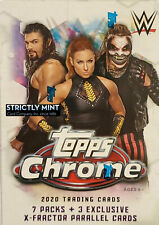 2020 Topps CHROME WWE Blaster Box with 3 EXCLUSIVE X-Fractor Parallel Cards Per