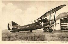 Carte Aviation Paris New York Avion BREGUET BIDON ?  Moteur Hispano Suiza