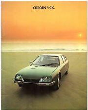 Citroen CX 1977-78 UK Market Sales Brochure Prestige GTi Pallas Super Safari