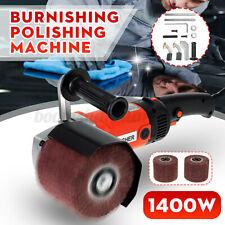 1400W Electric Burnishing Drawing Machine Burnisher Sander Polisher+ 2 Wheel