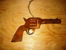Western Rustic Christmas Ornament Six Shooter Holiday Home Decor Cowboy