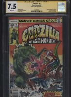 Godzilla #8 CGC 7.5 SS Herb Trimpe 1977 Newsstand Variant