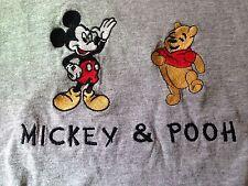 MEN'S VINTAGE MICKEY & POOH T SHIRT L MICKEY & CO.