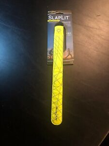 Nite Ize SlapLit LED Slap Wrap Neon Yellow Reflective Safety Light-Up Bracelet