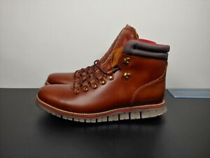 COLE HAAN Zerogrand Hiker Waterproof Leather Boots Men's Size 11 Wide C33471